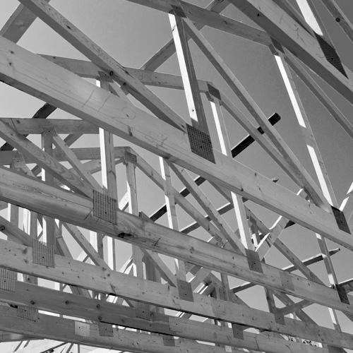 Charpente industrielle en bois