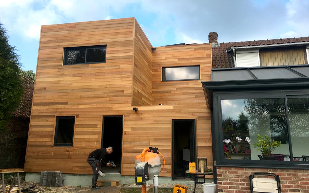 Extension surélévation en bois