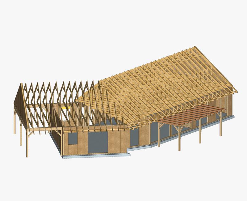 Maquette charpente en bois