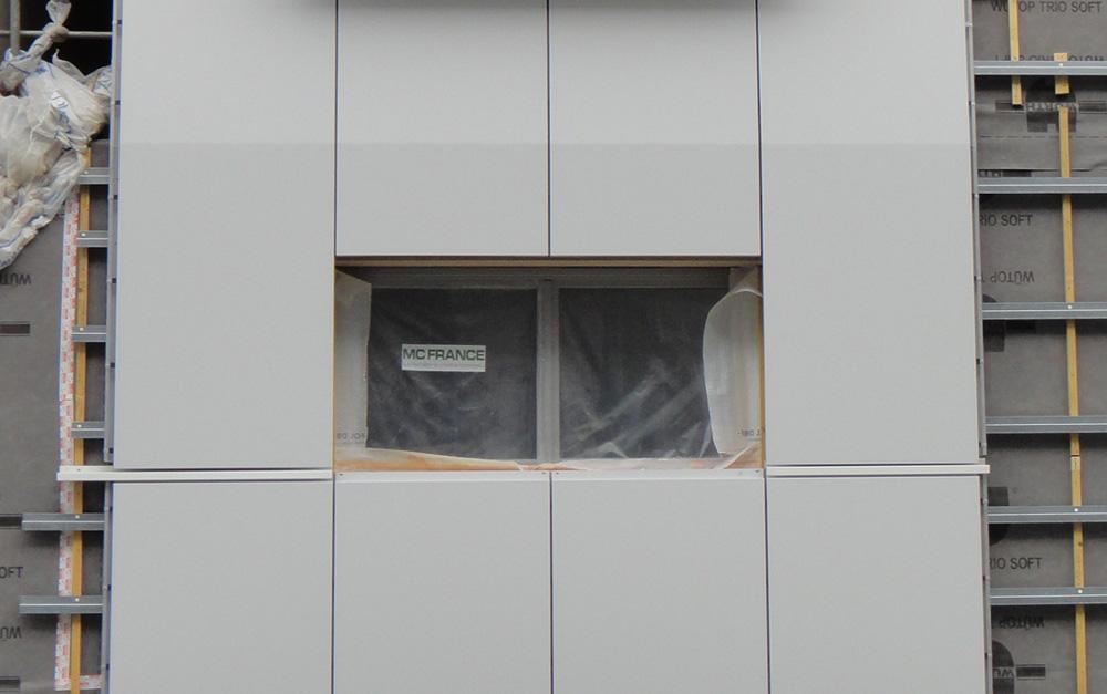 Mur manteaux ITE